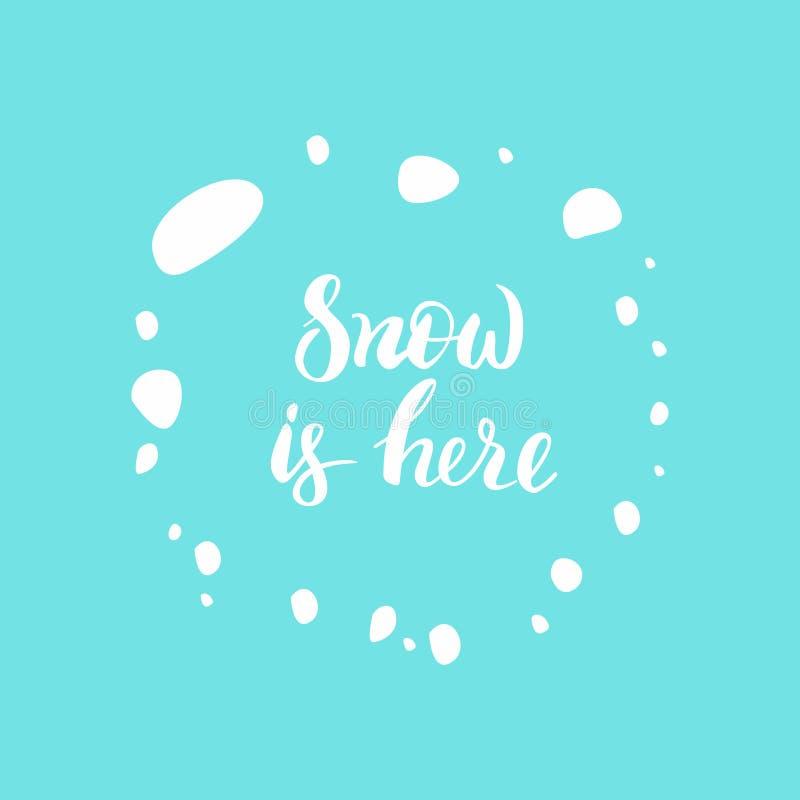 De sneeuw is hier stock afbeeldingen