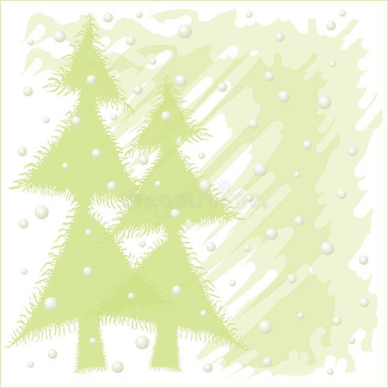 De sneeuw nacht van Kerstmis vector illustratie