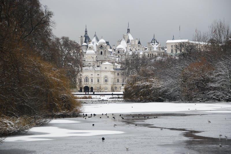 De sneeuw Parade van de Wachten van het Paard royalty-vrije stock afbeeldingen