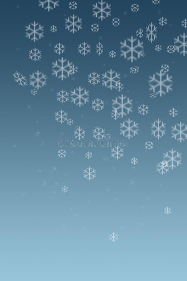 De sneeuw schilfert 2 af vector illustratie