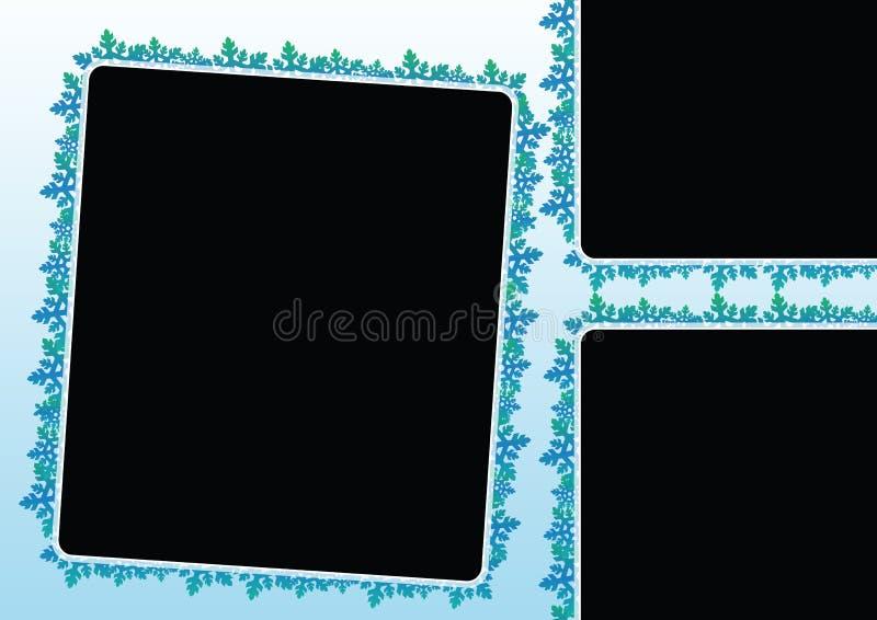 De sneeuw schilfert frames af royalty-vrije illustratie