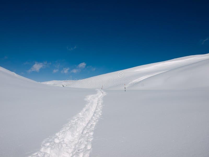De sneeuw van de lawine royalty-vrije stock afbeelding