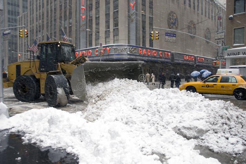 De Sneeuw van de Stad van New York stock foto