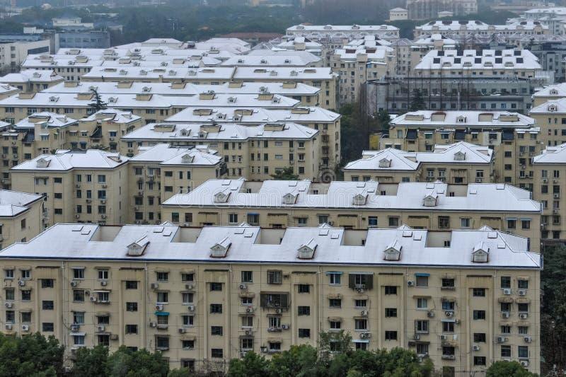 De sneeuw van Shanghai royalty-vrije stock afbeeldingen