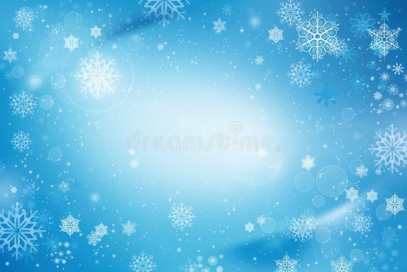 De sneeuwachtergrond van de de wintervakantie stock illustratie