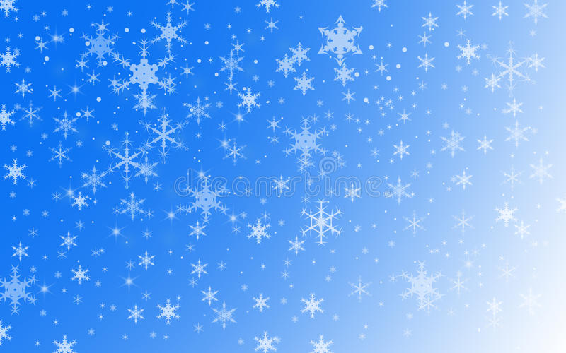 De Sneeuwachtergrond van de de wintervakantie royalty-vrije illustratie