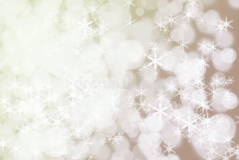 De Sneeuwachtergrond van de de wintervakantie Bac van Kerstmis Abstracte Defocused stock afbeelding