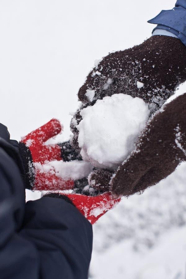 De sneeuwbal royalty-vrije stock afbeelding