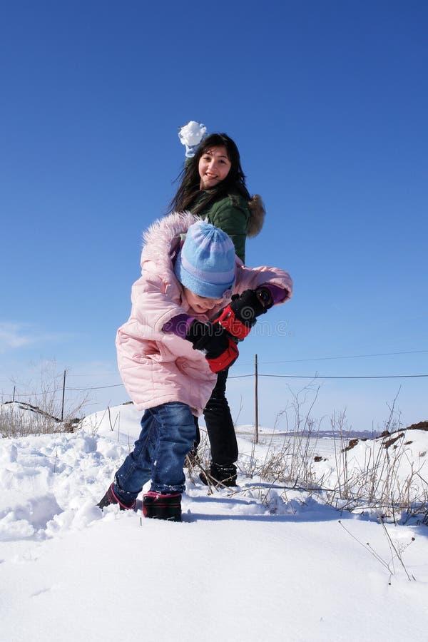De sneeuwbal van het spel stock foto's