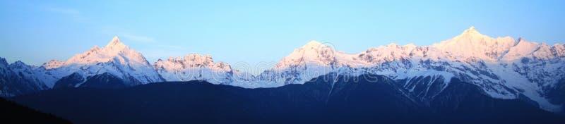 De sneeuwberg van Meili (de Berg van de Sneeuw van de Prins) stock afbeelding