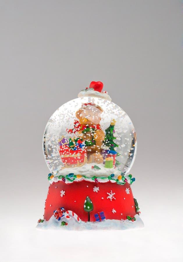 De sneeuwbol van Kerstmis royalty-vrije stock afbeelding