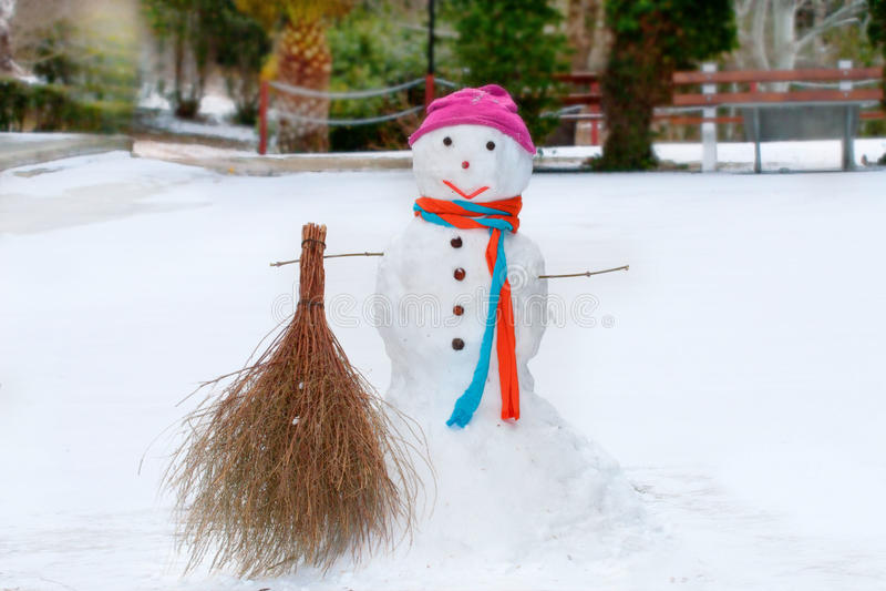 De sneeuwman stock foto's