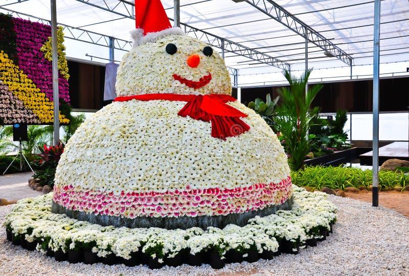 De sneeuwman van de bloem royalty-vrije stock afbeelding