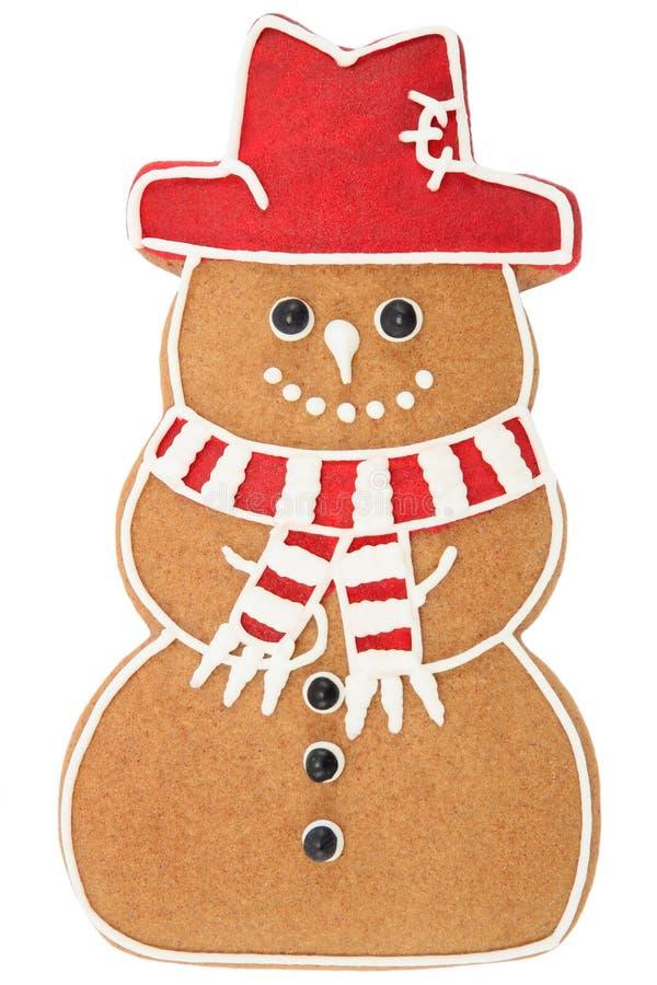 De sneeuwman van de peperkoek stock fotografie