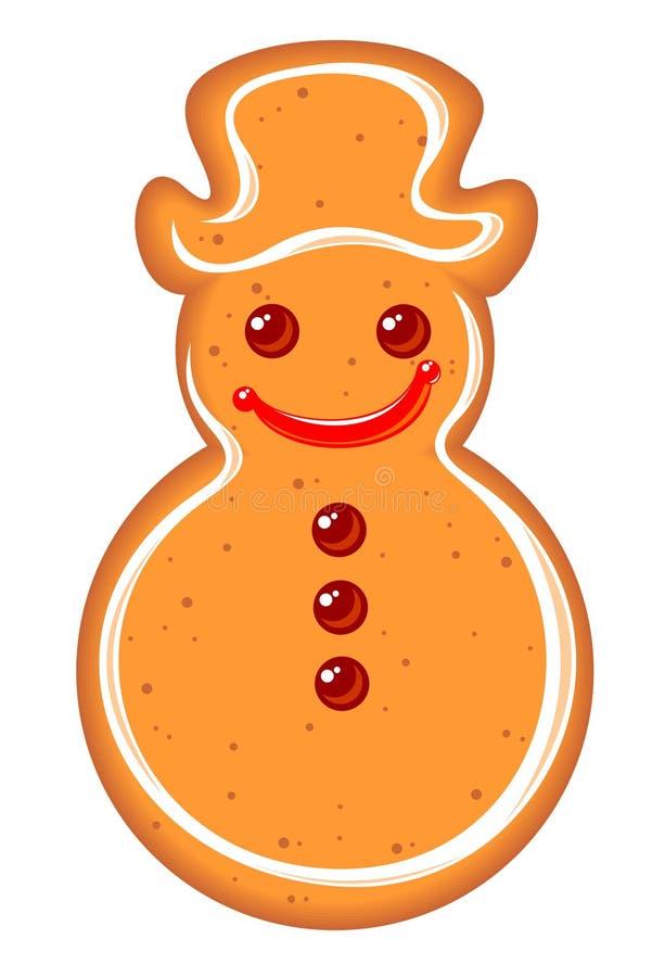 De sneeuwman van de peperkoek vector illustratie