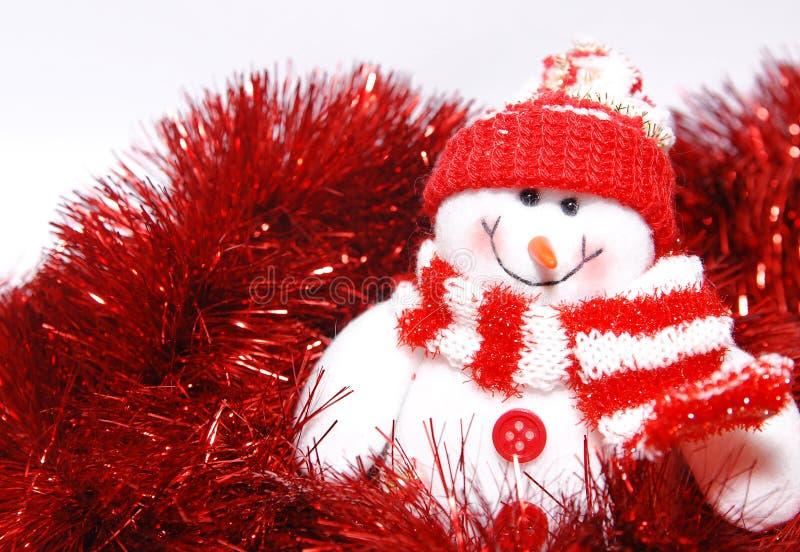 De sneeuwman van Kerstmis royalty-vrije stock afbeelding