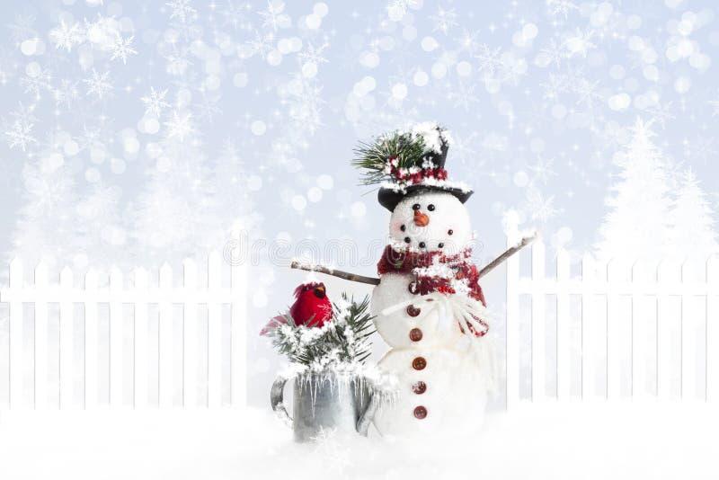 De sneeuwman van Kerstmis royalty-vrije stock fotografie