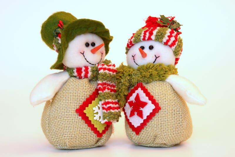 De sneeuwmannen van Kerstmis stock afbeeldingen