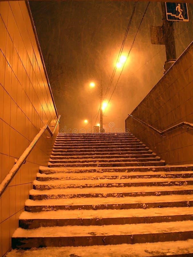 De sneeuwstorm van de winter royalty-vrije stock foto