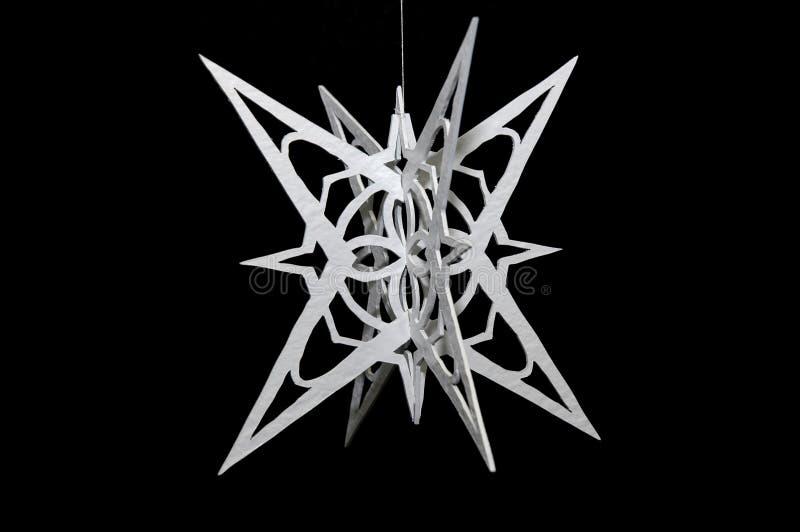 De sneeuwvlok van Handcarved royalty-vrije stock fotografie