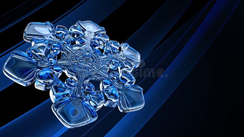 De sneeuwvlok van het ijs stock illustratie