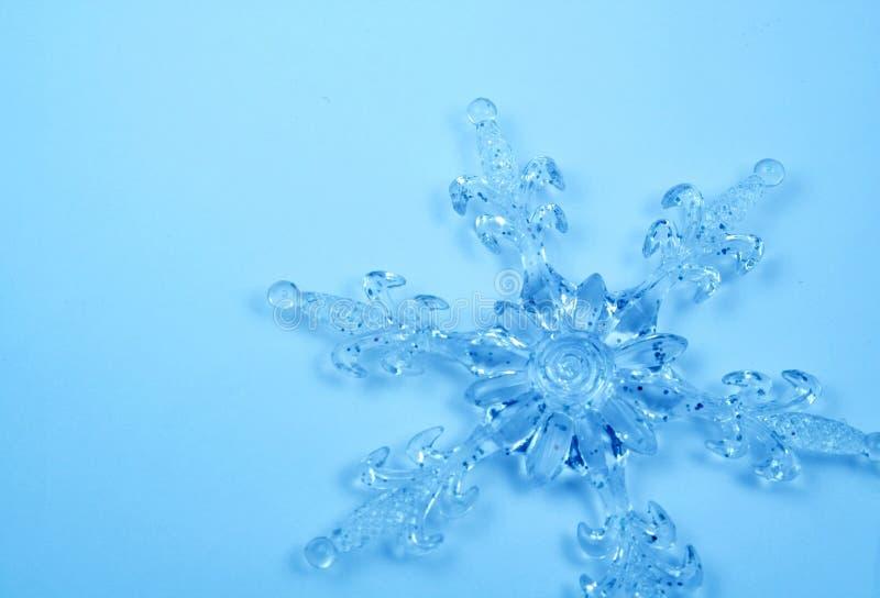 De sneeuwvlok van het kristal. Kerstkaart stock afbeelding