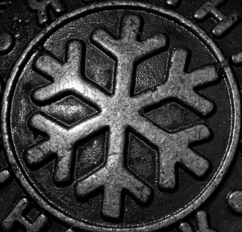 De Sneeuwvlok van het metaal stock fotografie