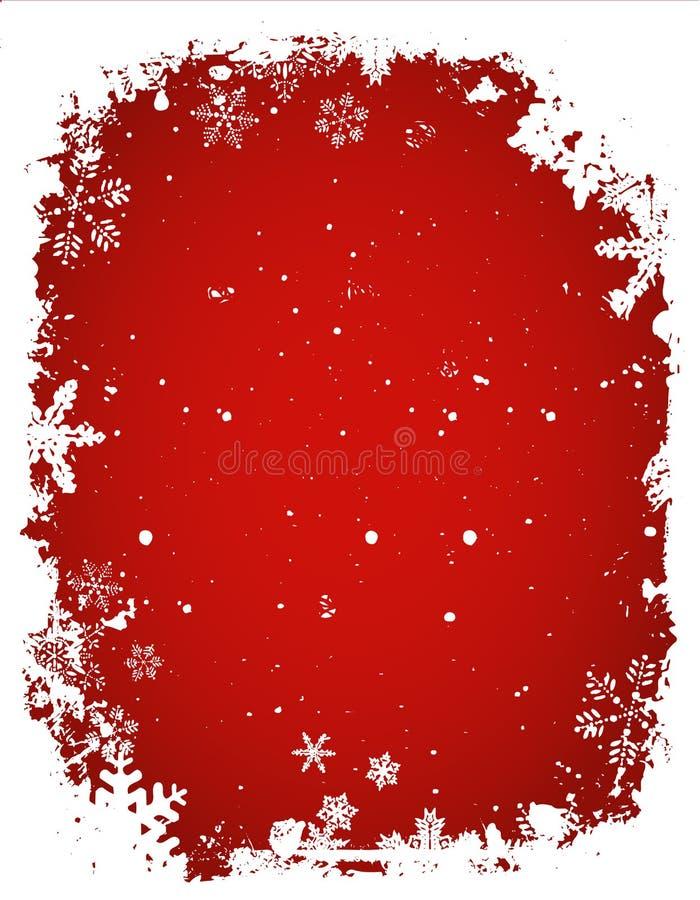 De sneeuwvlokachtergrond van Grunge stock illustratie