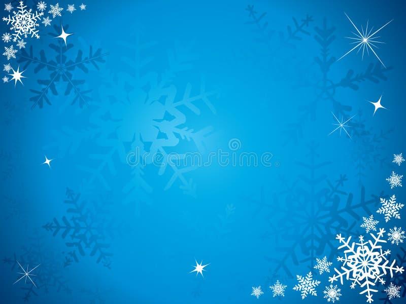 De sneeuwvlokachtergrond van Kerstmis stock illustratie