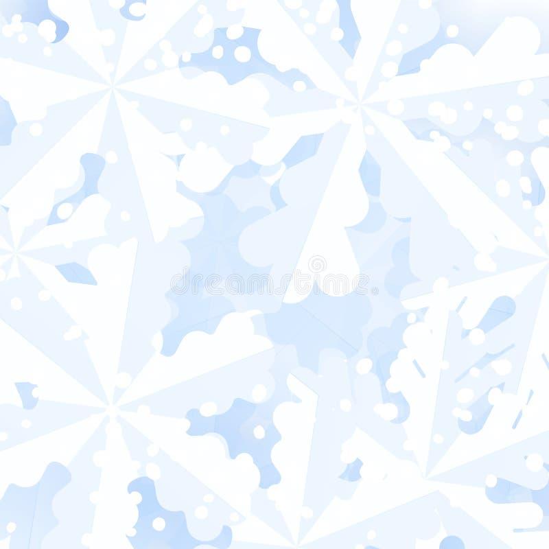 De sneeuwvlokachtergrond van de winter Feestelijke Kerstmisachtergrond met sneeuwvlokken royalty-vrije illustratie