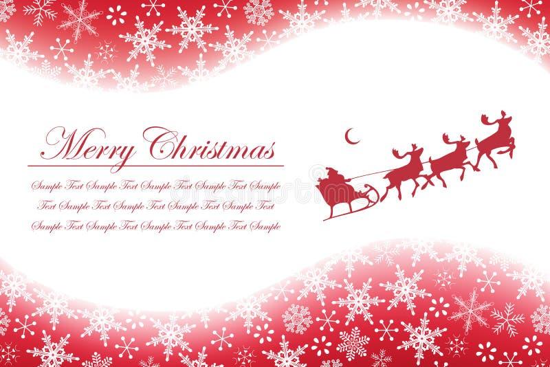 De Sneeuwvlokken en de Kerstman van Kerstmis vector illustratie