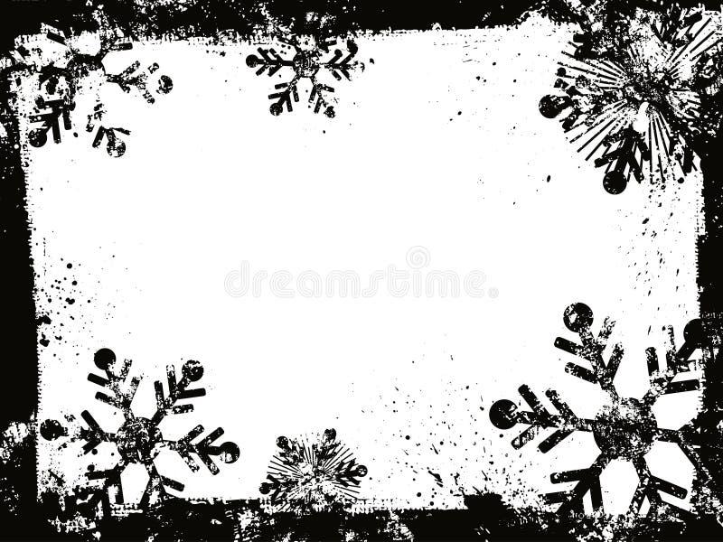 De sneeuwvlokken van Grunge royalty-vrije illustratie