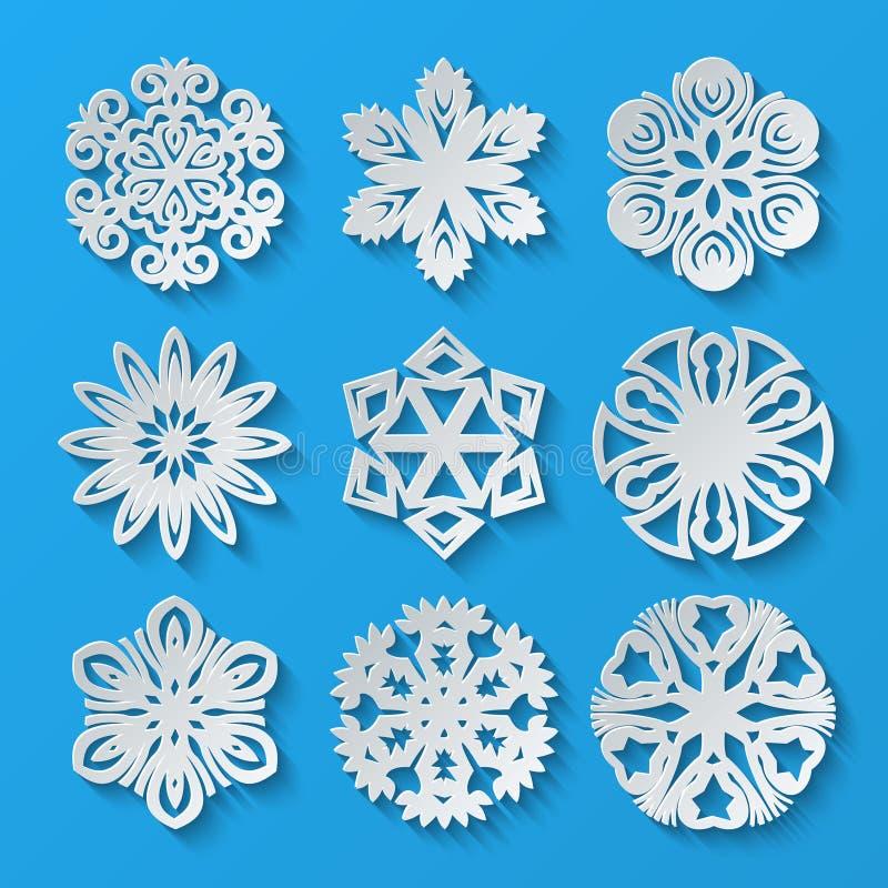 De Sneeuwvlokken van het document Reeks 1 royalty-vrije illustratie