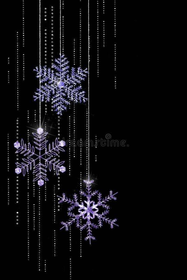 De Sneeuwvlokken van Jeweled van Kerstmis vector illustratie