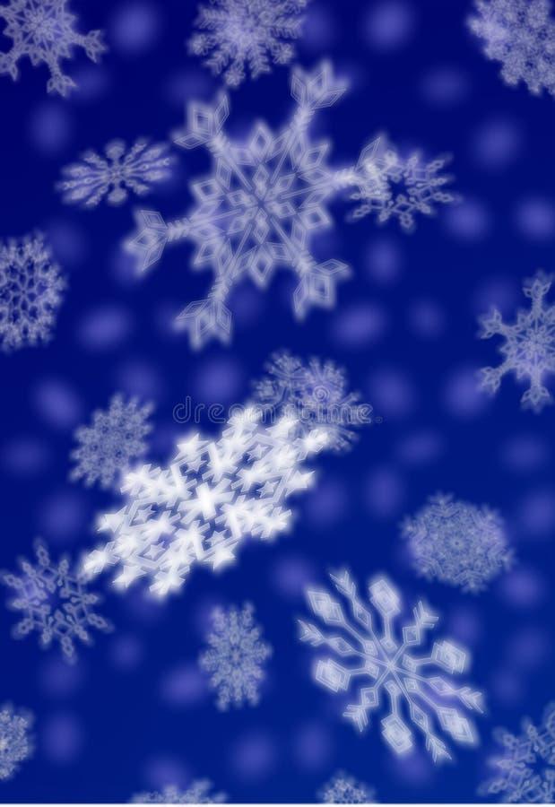 De sneeuwvlokken van Kerstmis stock illustratie
