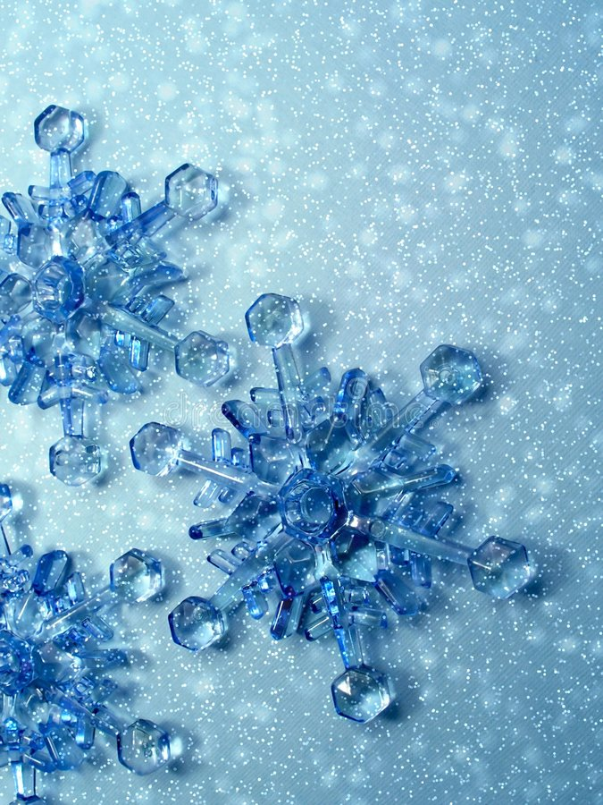 De sneeuwvlokken van Kerstmis royalty-vrije stock foto's