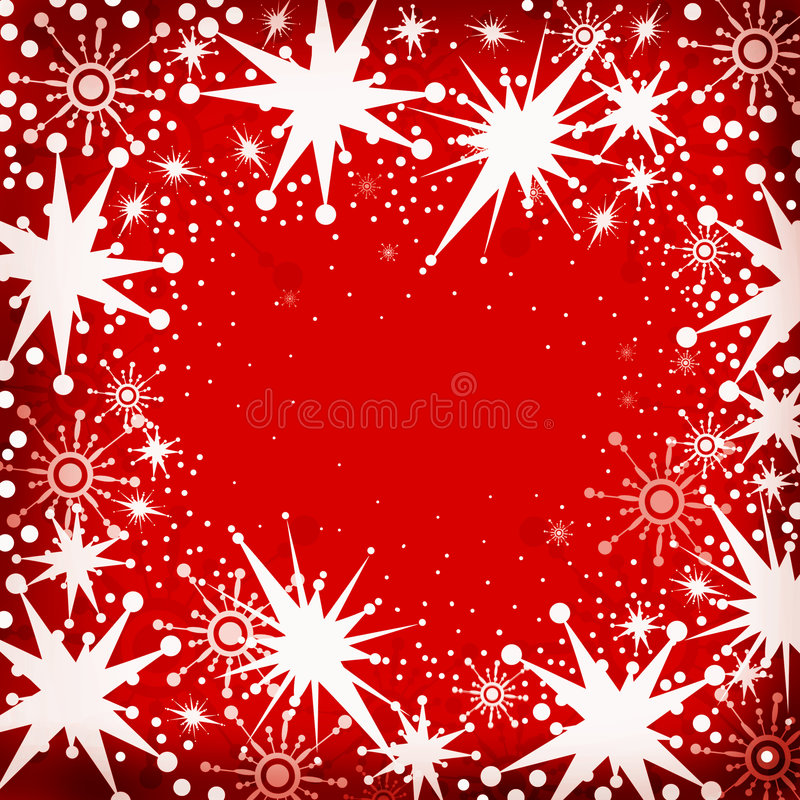De sneeuwvlokken van Kerstmis royalty-vrije illustratie