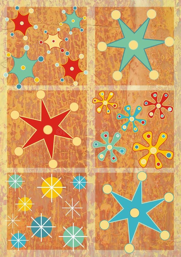 De sneeuwvlokken van Kerstmis vector illustratie