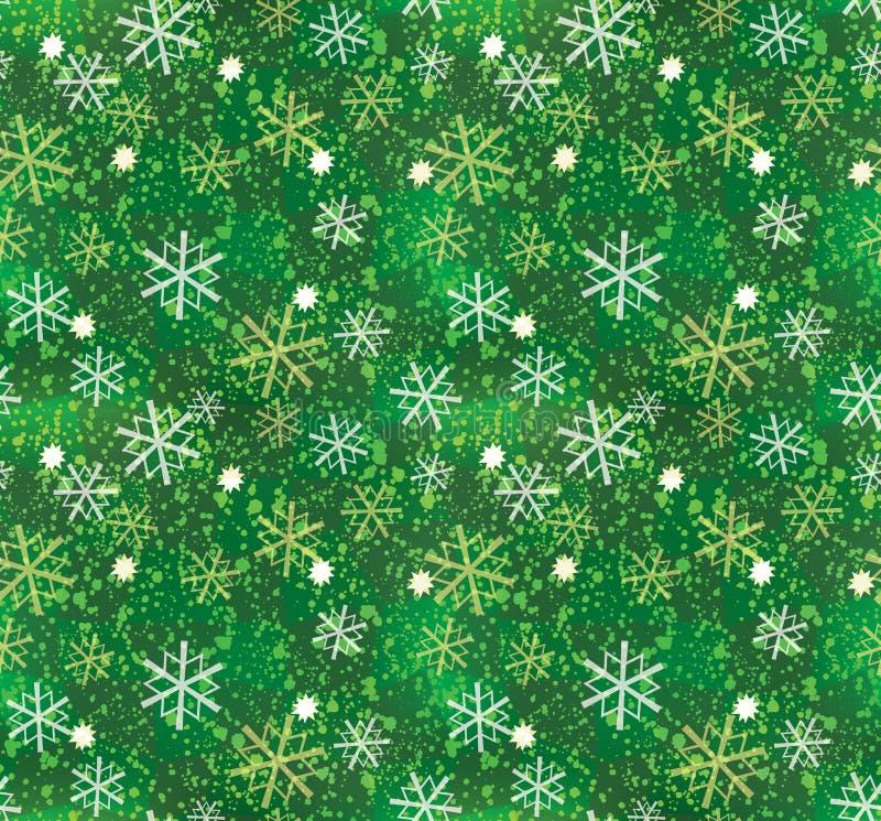 De sneeuwvlokpatroon van Kerstmis royalty-vrije illustratie