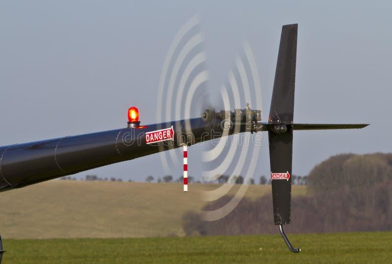 De snel spinnende rotor van de helicoptorstaart royalty-vrije stock afbeelding