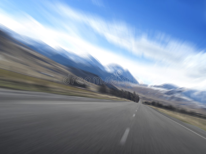 De snelheid van de weg royalty-vrije stock foto