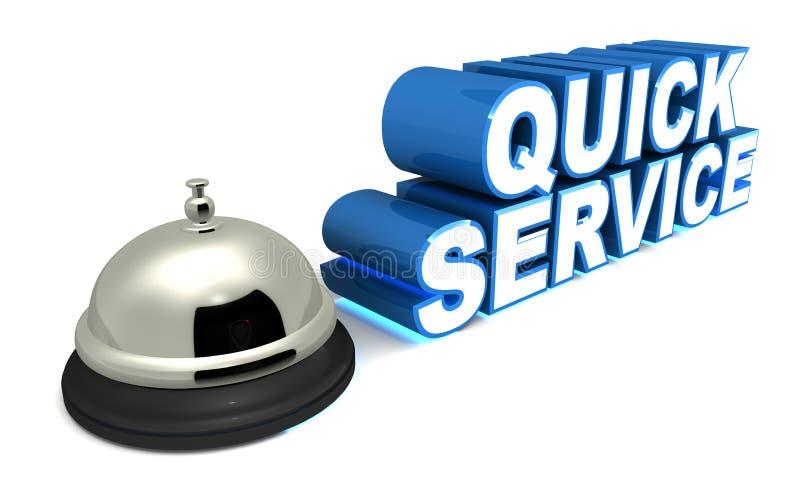 De snelle dienst stock illustratie