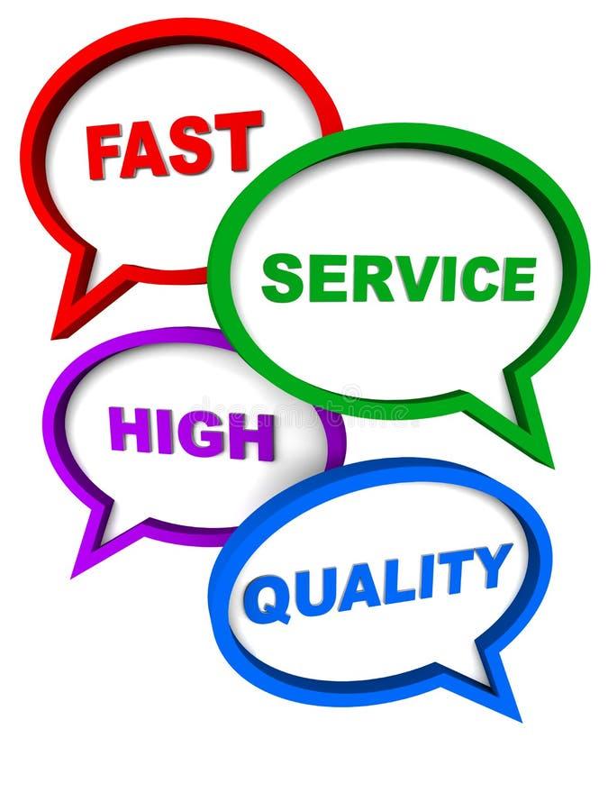 De snelle hoge dienst - kwaliteit stock illustratie