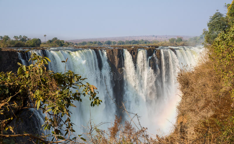 De snelle mening van Victoria Falls van de blindsnelheid stock afbeeldingen