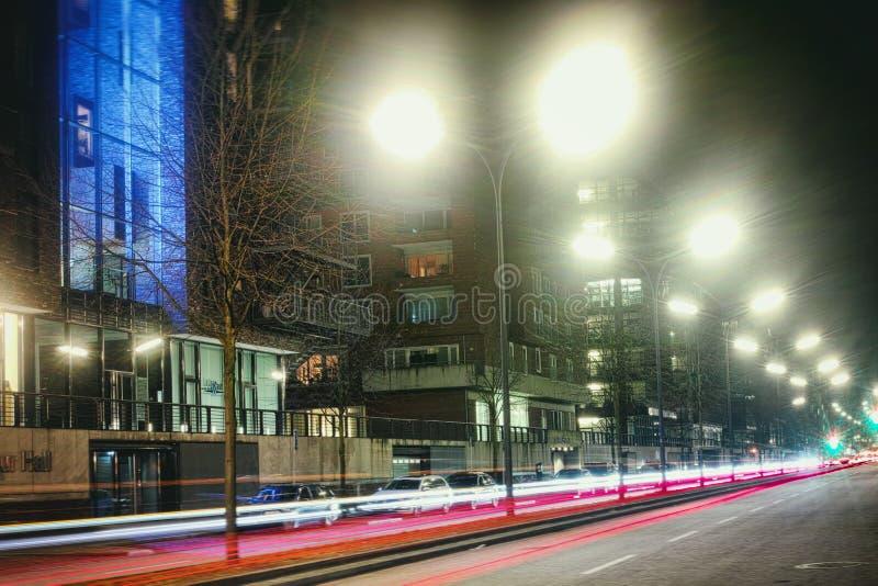 De snelle Tijdopname Europa van Hamburg van de Laserauto stock afbeelding