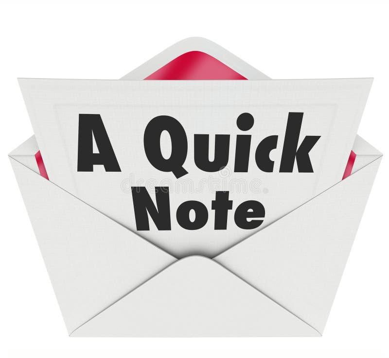 De snelle van de het Berichtbrief van Notawoorden Update van het het Berichtnieuws vector illustratie