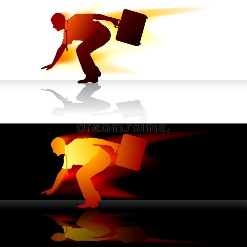 De snellere Silhouetten van de Manager stock illustratie