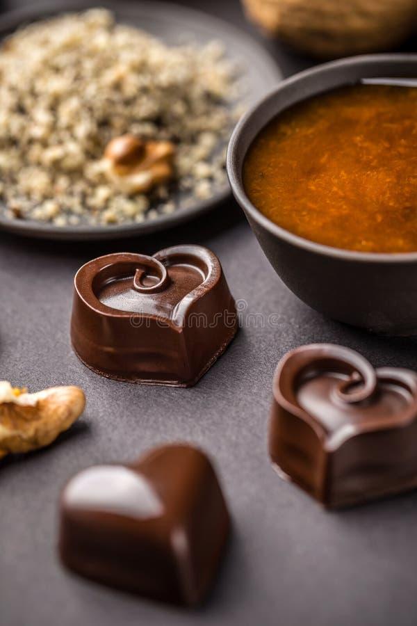 De snoepjes van de chocolade stock afbeeldingen