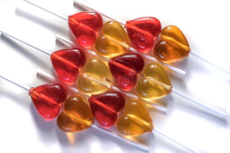 De snoepjes van het lollyssuikergoed stock afbeeldingen