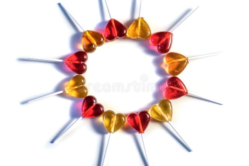De snoepjes van het lollyssuikergoed stock afbeelding